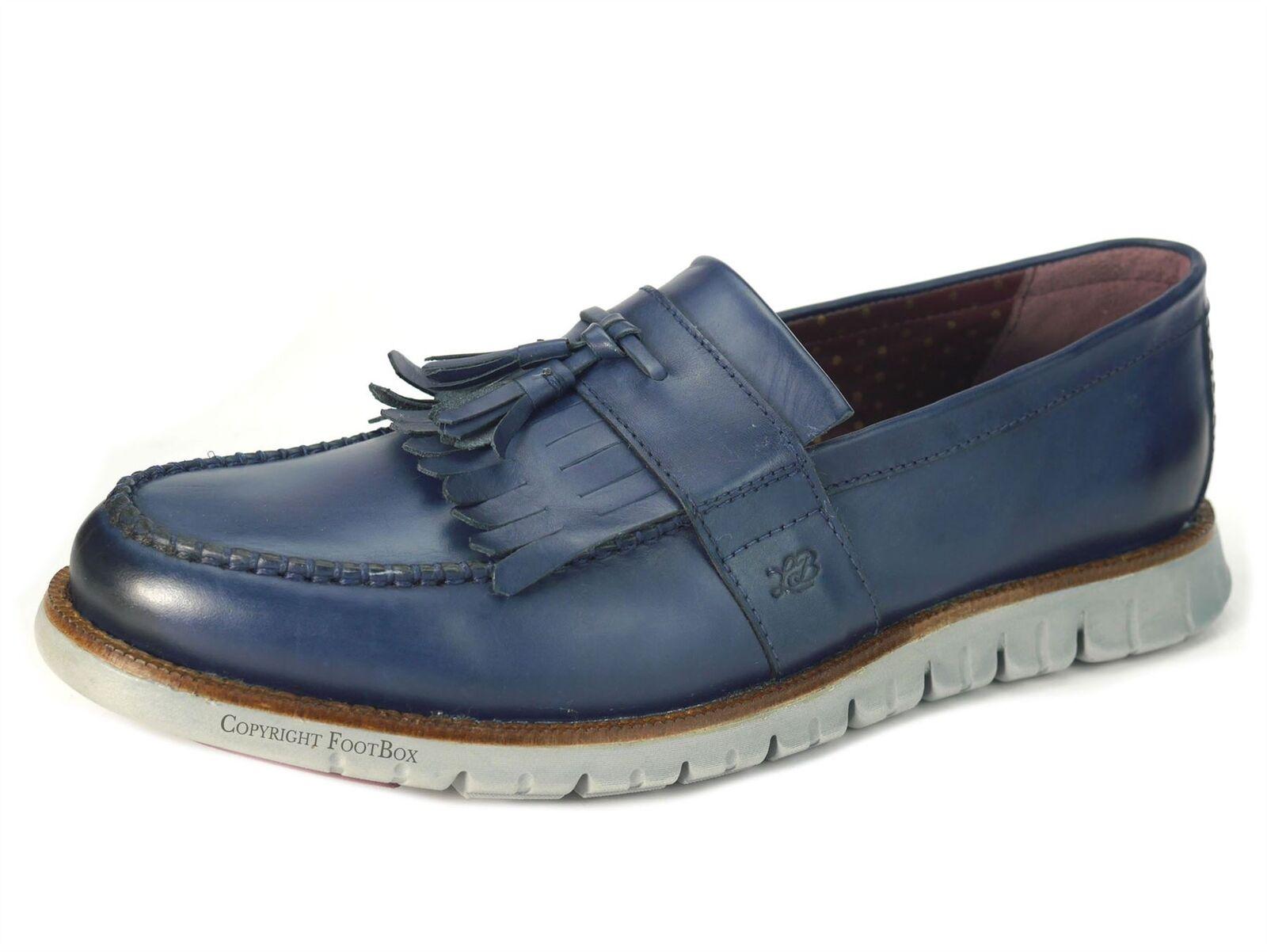 London Brogues Gatz Scarpe UOMO MOCASSINI CASUAL ULTRA scarpe leggere Scarpe Gatz Blu Marina d161b2