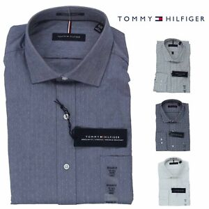 Tommy-Hilfiger-Mens-Long-Sleeve-Regular-Fit-Dress-Shirt