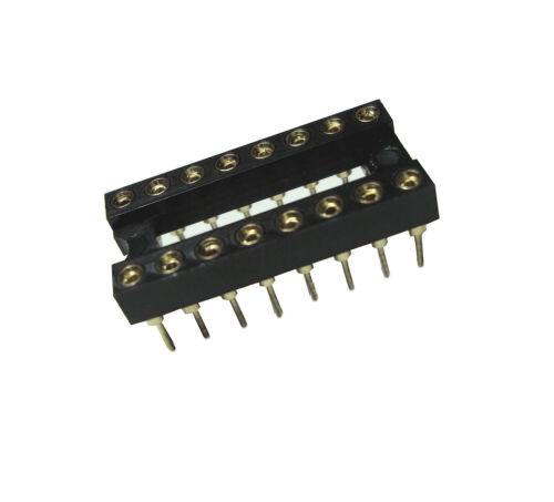 20 St. IC Socket versione 16 poli contatti dorati 2,54 mm griglia
