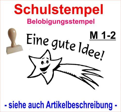 Schulstempel Stempel Schule Lehrerstempel Belobigungsstempel  M 25-2