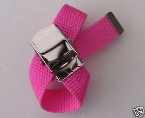 Neu 85cm ArmygÜrtel In Pink Armee Koppelgürtel Koppel Stoff GÜrtel Army Weniger Teuer Mädchen-accessoires Kleidung & Accessoires
