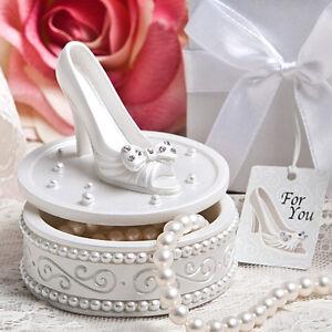 image is loading 25 cinderella shoe trinket box slipper wedding bridal