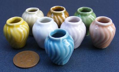 1:12 Scala Colorato Fantasia Ceramica Vaso Tumdee Casa Delle Bambole Fiore