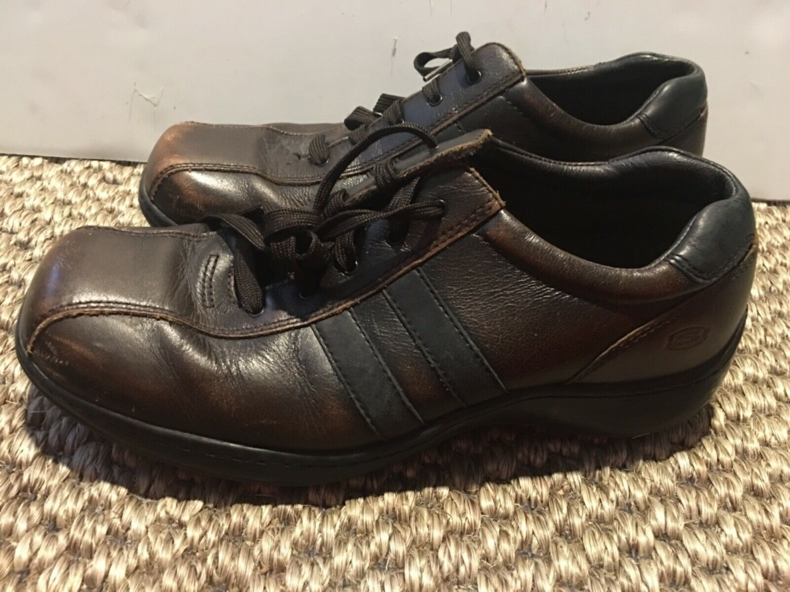 Skechers Men's Sneakers Relaxed Step Brown Leather Patina Lace Up 11