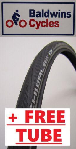 gratuit tube * 700 x 25c schwalbe lugano noir reflex 2016 vélo de route pneu