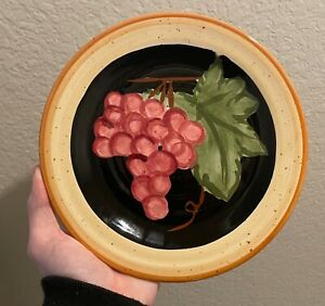 Vintage Grape Culinary Arts Studio Collection 8 25 Plate Grapes Fruit Kitchen Ebay