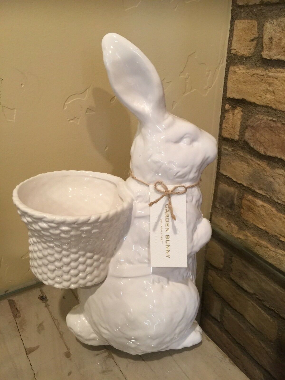 New Pottery Barn Garden Bunny Ceramic Large Medium And Small Small Small Easter Bunny 9a295a