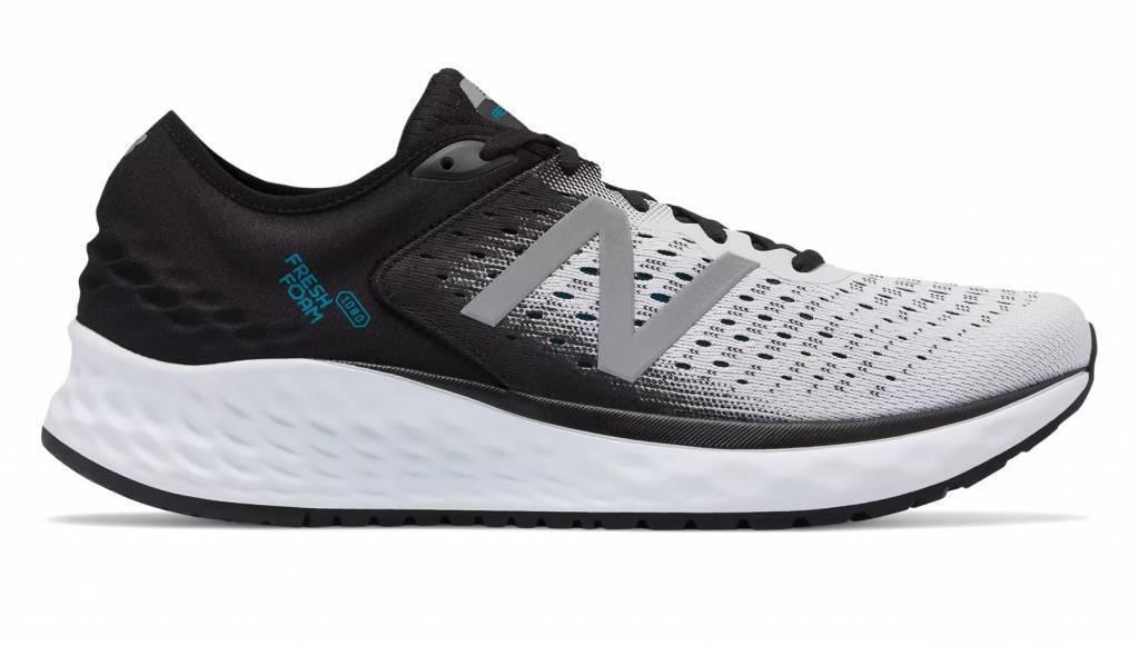 New Balance M1080WB9 1080v9 White Black & Deep Ozone bluee Men's Running shoes