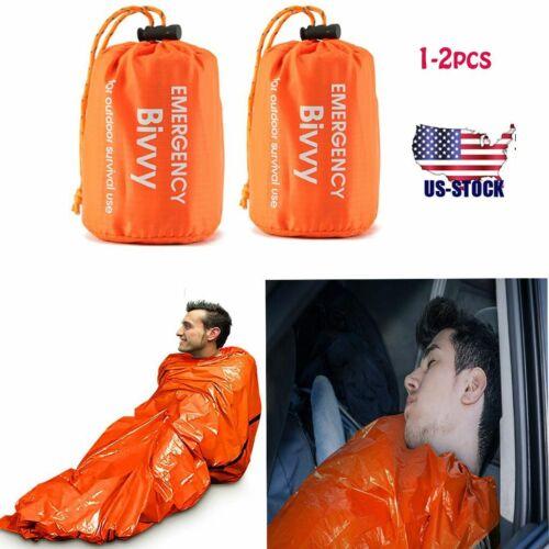 Waterproof 2X Thermal Emergency Sleeping Bag For Survival Hiking Camping Outdoor