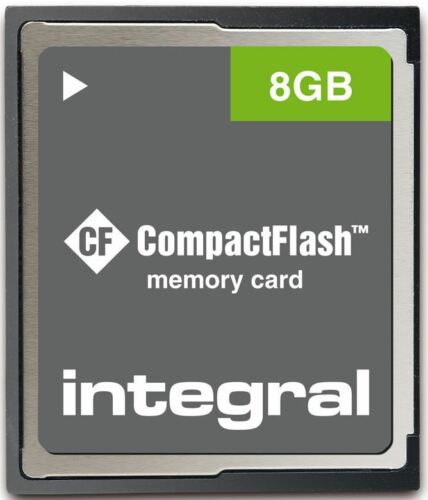 Integral 8GB Compact-Flash INCF8GV2 CF Memory Card for Digital SLR Cameras