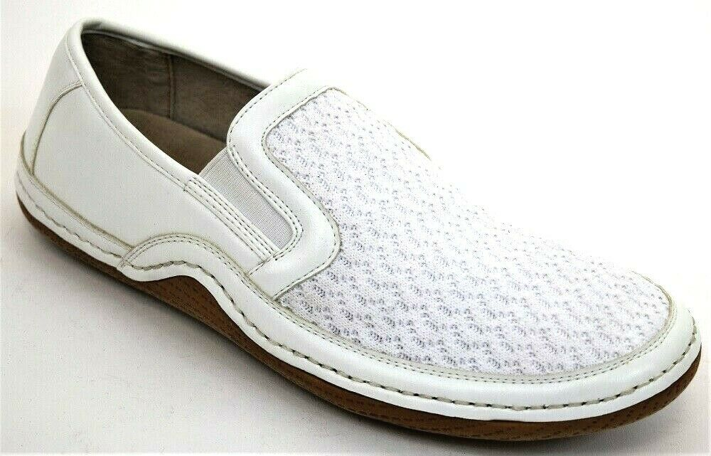 Men's Casual shoes Moc Toe Slip On Loafers White STACY ADAMS ORLEANS
