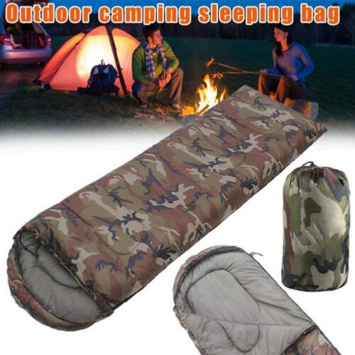 Military Sleeping Bag Cotton Army Camouflage Camping Adult Hybrid Envelope Style