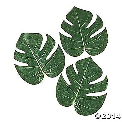 12 TROPICAL LUAU LARGE PALM TROPICAL LEAVES BEACH PARTY DECORATIONS NEW NATURAL
