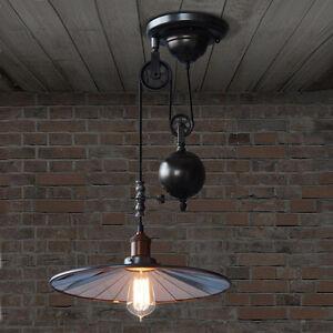 industrial pulley pendant light rh loft image is loading vintageedisonindustrialpulleypendantlight adjustablewire vintage edison industrial pulley pendant light adjustable wire