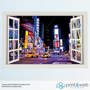 new york 3d window view decal wall sticker home decor mural various designs ebay
