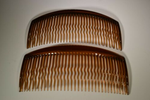 Brown Hair Combs Pack Of 2 Plain 11.5 cm Combs