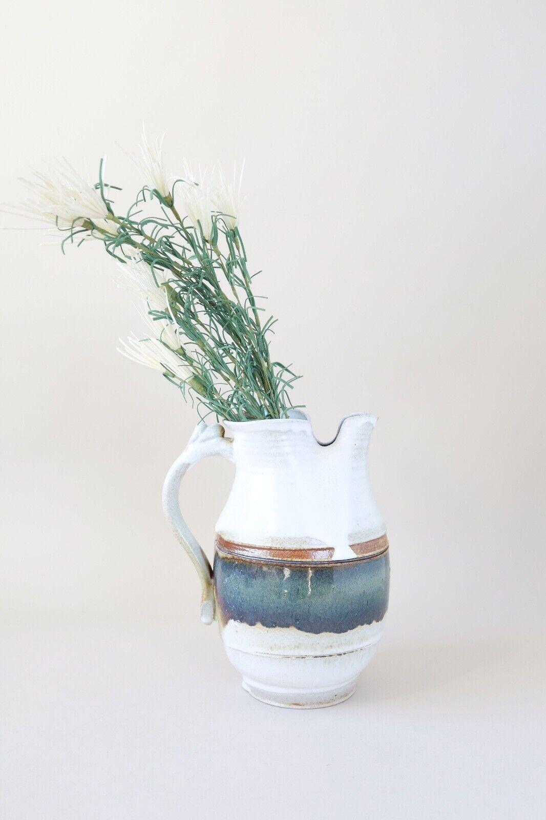 Vintage hand thrown stoneware pitcher pitcher pitcher 664767