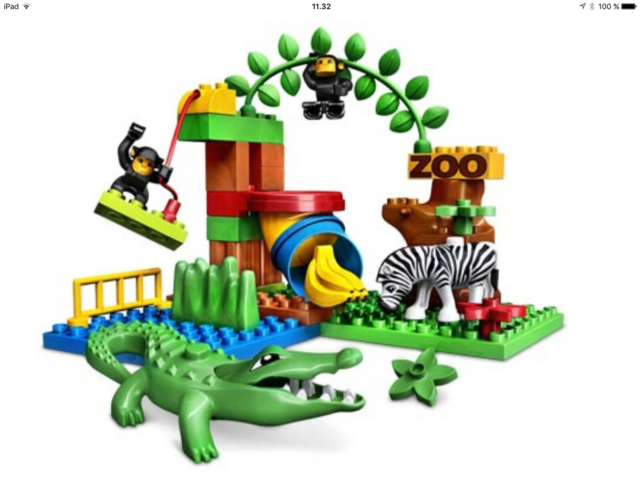 Lego Duplo, 4961, Funny zoo. Komplet sæt i fin stand