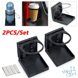 2x Universal Plastic Folding Cup Drink Holder Multifunctional For Car Truck Boat