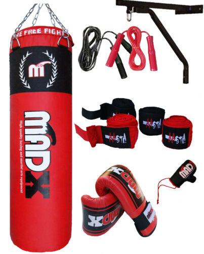 Madx 1.5m Imbottito Pesante Punch Borsa Custom Costruisce Set Catene Supporto,