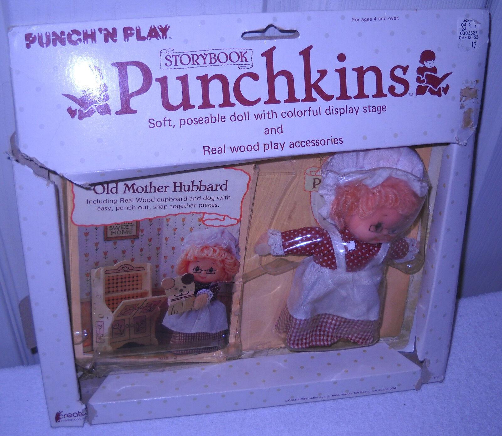 Nuevo en Caja Vintage CREATA Punch N Play Historia Libro punchkins Old Mother Hubbard