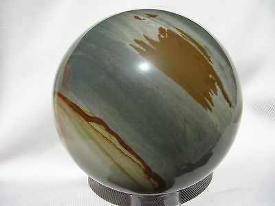"Siaz 4.1"" WILD HORSE PICTURE JASPER SPHERE NATURAL RARE STONE BALL OREGON 105mm"