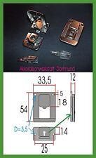 1 paar Akkordeon Kofferschlösser (klein),  1 Pair Accordion Case Locks - (small)
