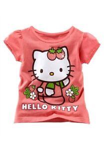 Ninas-Camiseta-Camiseta-de-Hello-Kitty-Talla-128-134-140-146-manga-corta