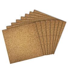 Thornton's Bulletin Board Cork Wall Tiles, Natural, 12 x 12, Frameless, 8 Pack
