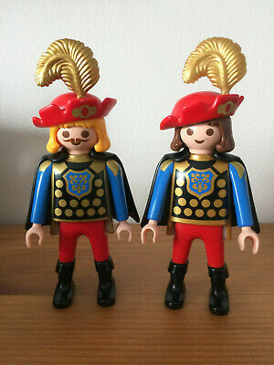 Playmobil lot plume blanche  Moyen-Age chapeau coiffe is6   NEUF