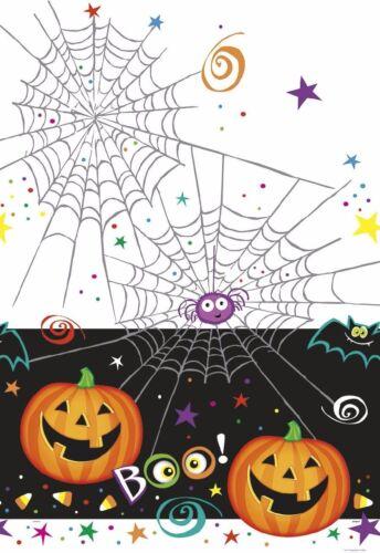 Tischdecke lachender Kürbis Spinnennetz 1,37 x 2,13 Meter groß Kunststoff