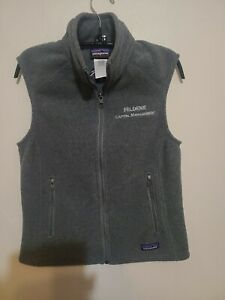 Patagonia-Women-039-s-Synchilla-Gray-Full-Zip-Fleece-Vest-Size-S
