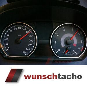 Tachoscheibe-fuer-Tacho-BMW-1er-E81-E82-E87-E88-034-Vision-Black-034-260-Km-h