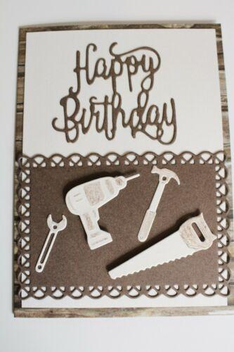 Glückwunschkarte zum Geburtstag für Freunde für Handwerker Handarbeit // G 26