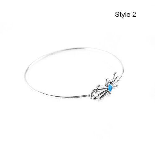 bracelet tribal alliage Gitan Boho Argent Plaque Manchette Bijoux