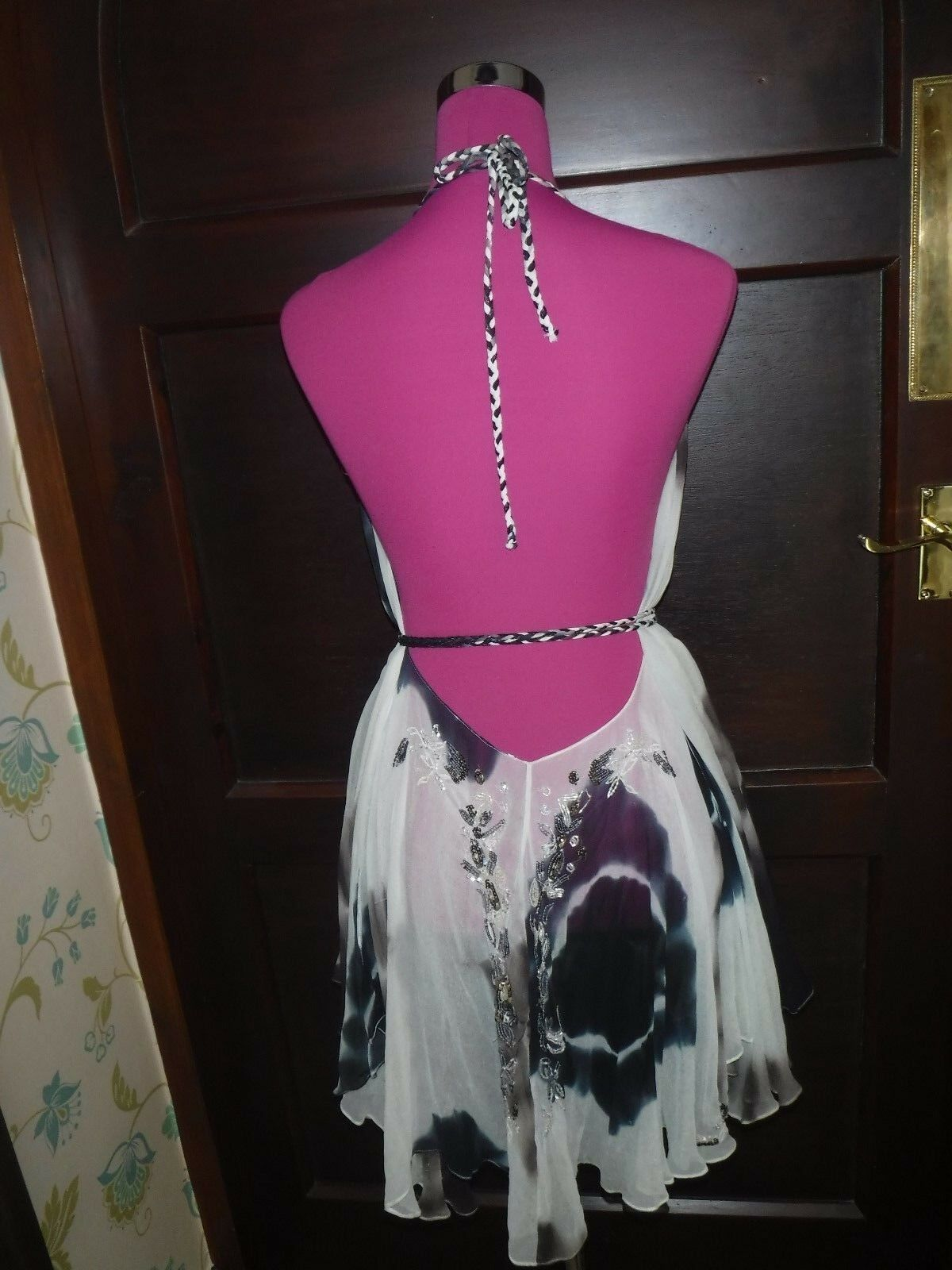 Stunning All Saints Zami Backless Dress Größe 10-14 Excellent Condition
