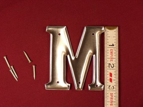 "Vintage Retro Aluminum Letter M 3/"" House Sign Address Letter M 40s 50s"