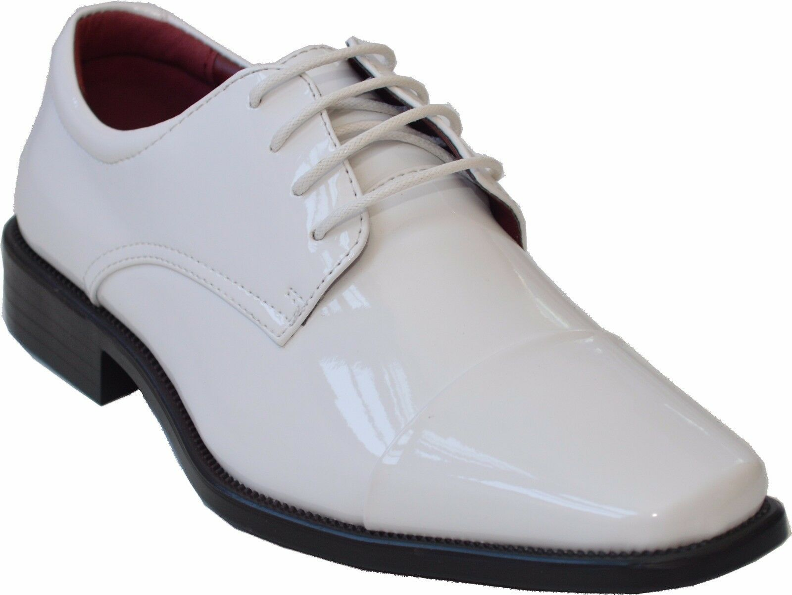 New Mens  Tuxedo  Formal  Lace Up Oxfords Church Party Dress White tuxi3