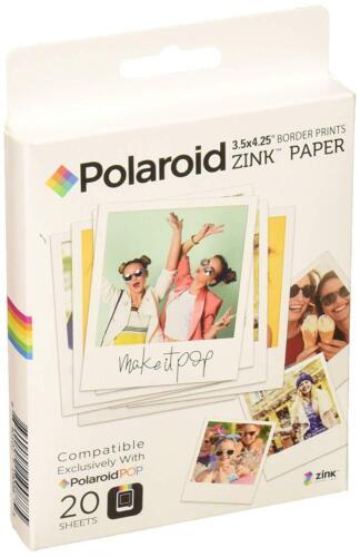 Pack de 20 Papel fotográfico Polaroid ZINK compatible con Polaroid Pop 2.0