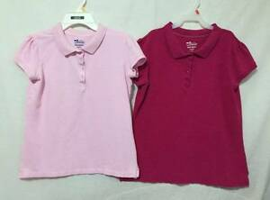 Two girls 14 & 14plus Old Navy Polo Uniform shirts soft & Hot pink ...