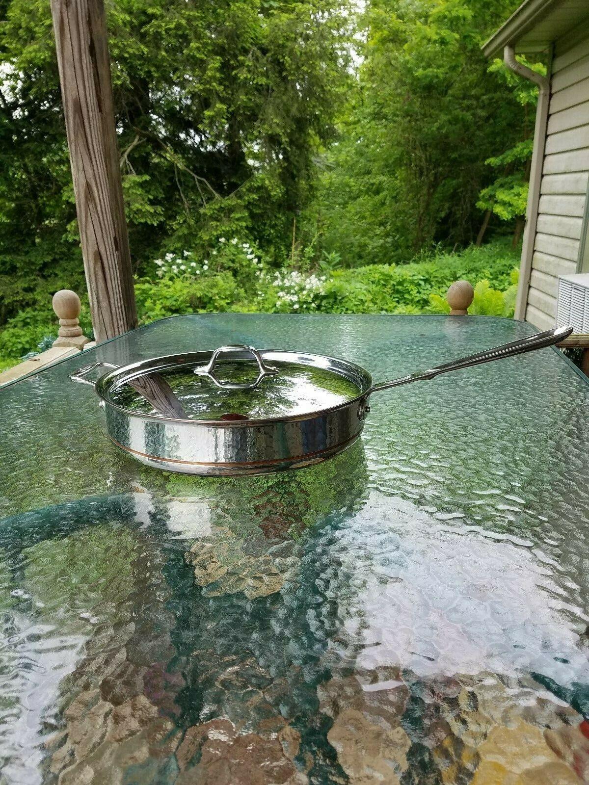 ALL CLAD Copper Core 6 Qt quart saute sauce pan pot avec couvercle MADE IN AMERICA