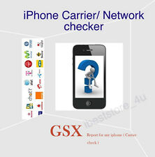 Full Apple iPhone 4s 5c 5s 6 6s +GSX Info Checker IMEI Carrier Check Lock Status