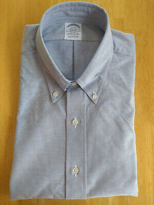 NWOT Brooks Brothers Blue Supima Oxford Cloth Button Down Slim Fit MSRP $140