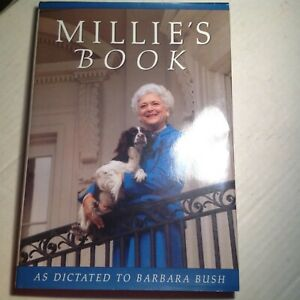 Millie-039-s-Book-Signed-by-Barbara-Bush-Autographed-Hardback-1st-Ed-First-Lady-Auto