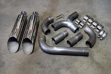 "GM Dodge Ford Chevy Diesel Trucks Universal Dual SS Stacks 5"" T Merge Pipe Kit"