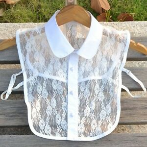 New Sexy Lace Shirt Detachable Collar Necklace Match Sweater Dress
