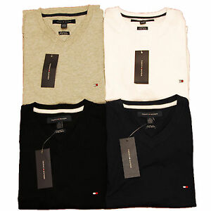 Tommy-Hilfiger-T-shirt-Custom-Fit-V-Neck-Short-Sleeve-Mens-Shirt-Nwt-All-Sizes