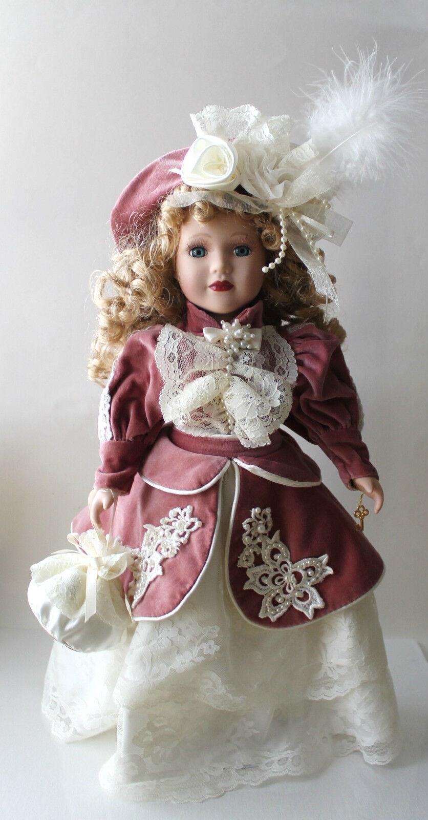 1999 Camellia Garden Collection Brass Brass Collection Key Victorian Porcelain Doll beebf5