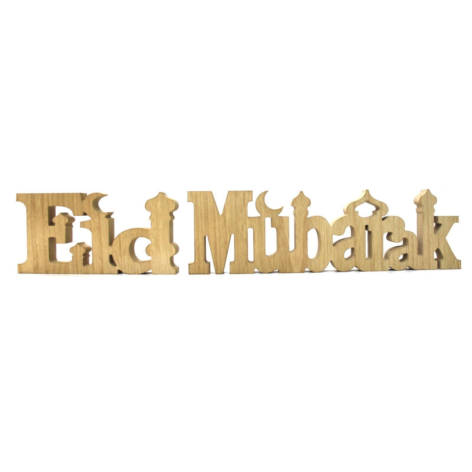 Eid Mubarak Ramadan Centrepiece Table Centre Wooden Letters Decoration Natural Ebay
