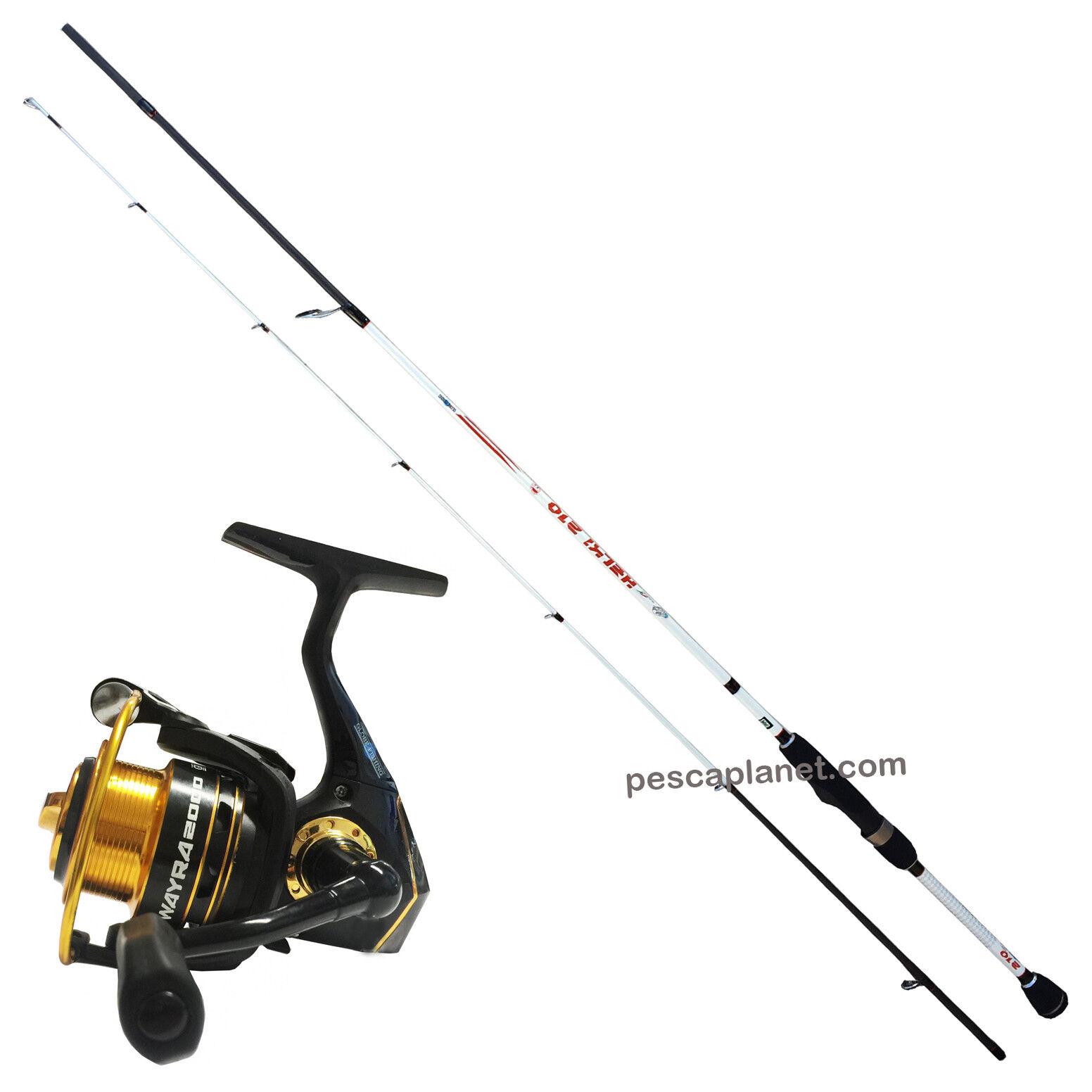 KP3551 Kit Pesca Trout Area Globe Fishing Canna Helki 2,10 m + Mulinello Wa RNG